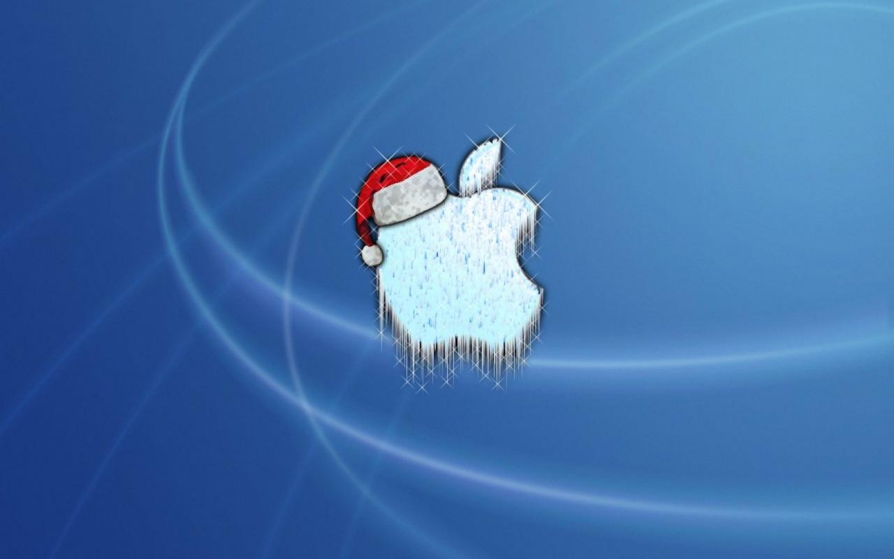 Christmas Apple 1280x800
